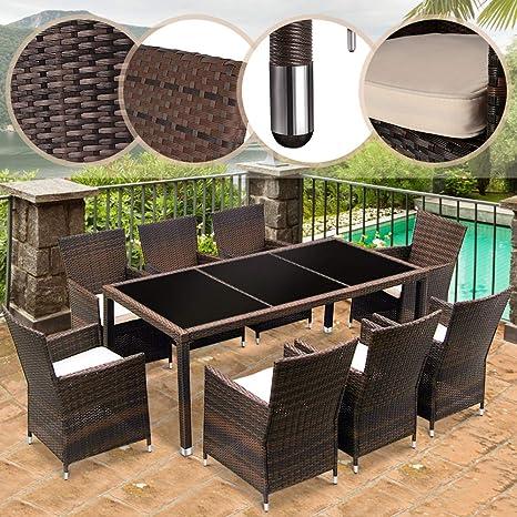 Miadomodo STZG30/05 resina mimbre jardín terraza sillas 56 ...