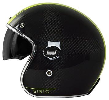 Origine Helmets 202587019200704 Sirio Style – Casco Jet de fibra de carbono, amarillo, ...