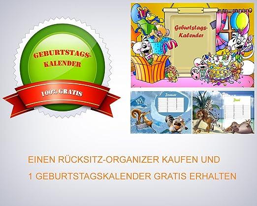 Kalender Geschenkidee Rücksitz Organizer Rückenlehnen Autositz Schutz
