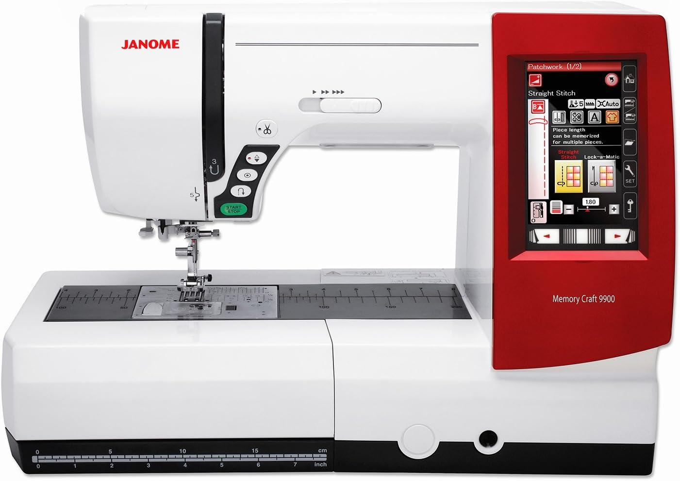 Janome Memory Craft MC 9900 máquina de coser y nitrógeno máquina ...