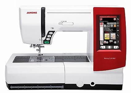 Janome Memory Craft MC 9900 máquina de coser y nitrógeno máquina