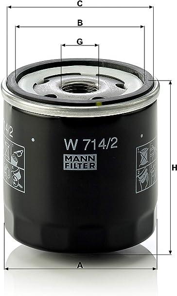 Original Mann Filter Ölfilter W 714 2 Für Pkw Auto