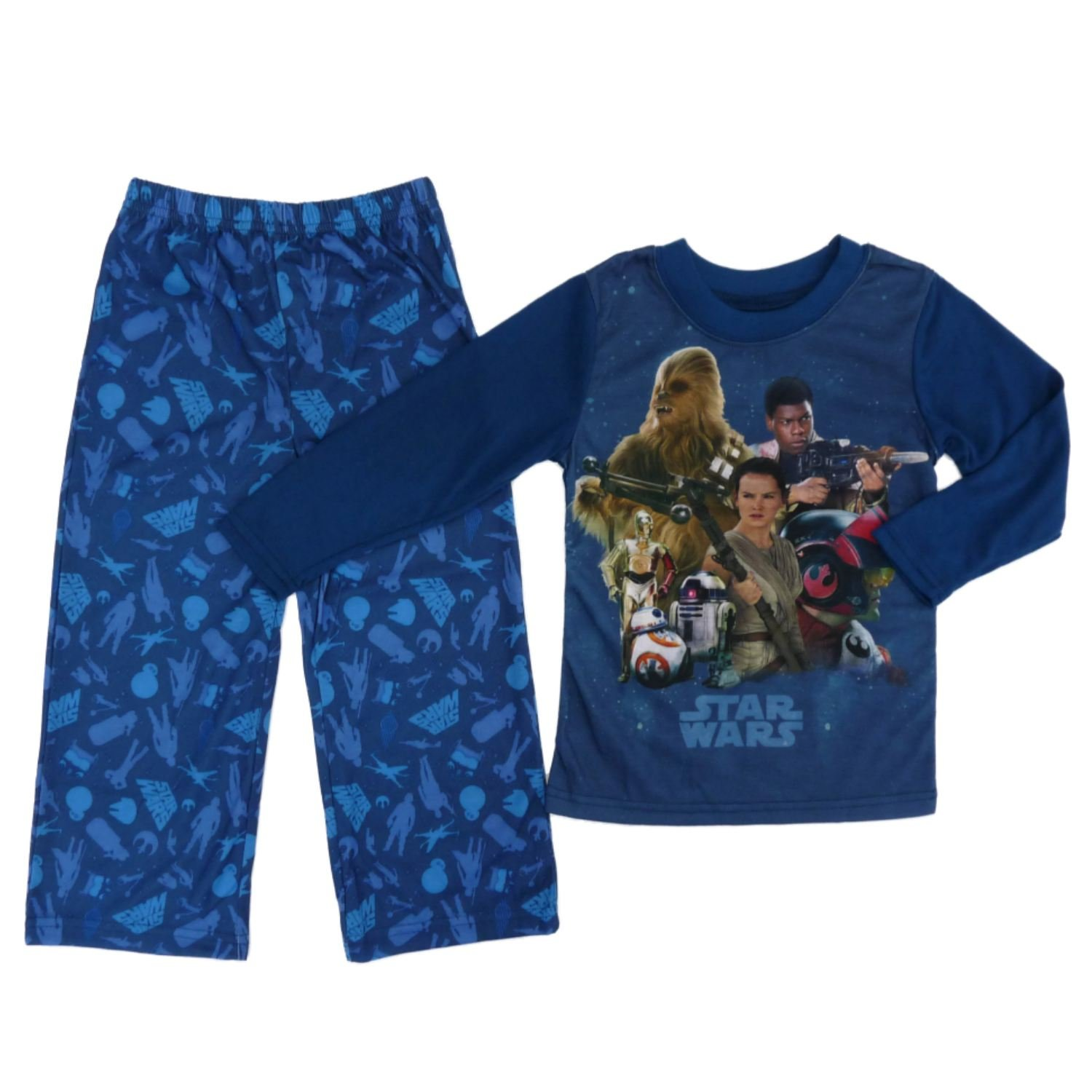 Star Wars Little Boys 2P The Force Awakens Sleepwear Rebel Pajama Set S