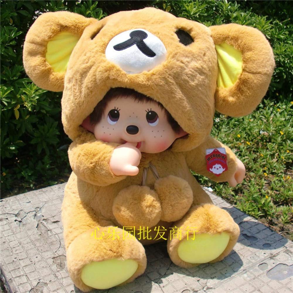 Easy Bear  HUILIN Walker 80 Assis Poupée Catch Doll Doll Turning Dream Knock Peluche Jouet Enfant Poupée Cadeau, Point Bleu