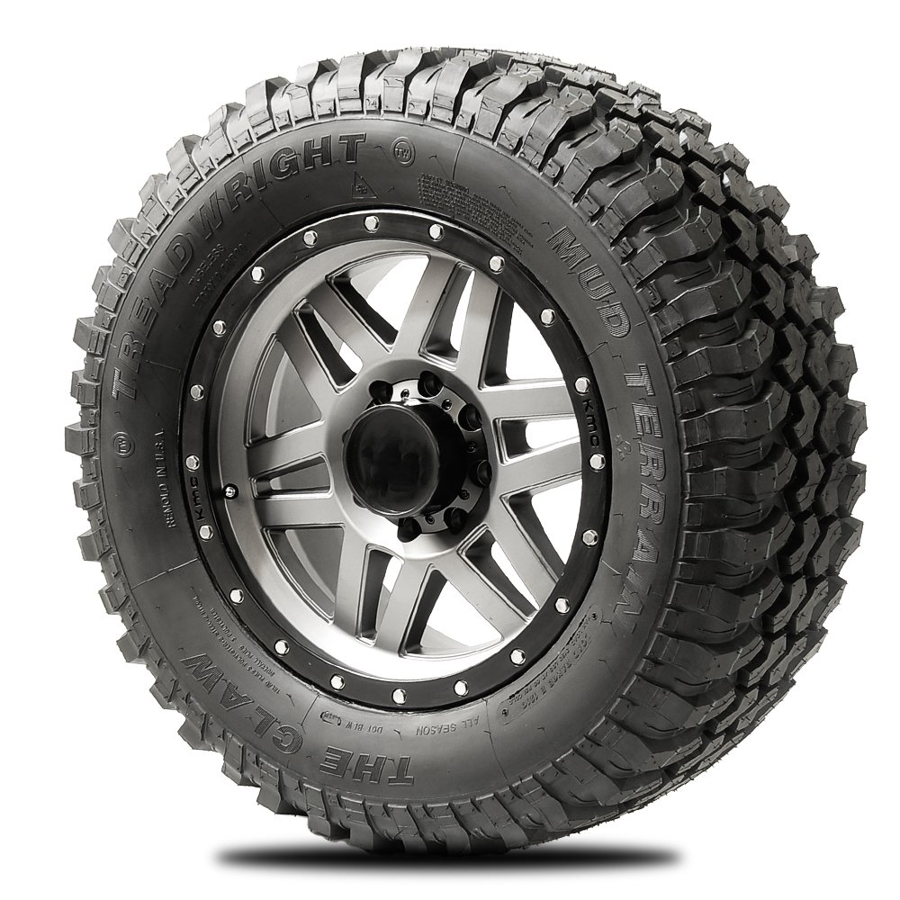 TreadWright CLAW II M/T Tire - Remold USA - LT35x12.50R20E Premiere Tread Wear (40, 000 miles) C3520E-B2B
