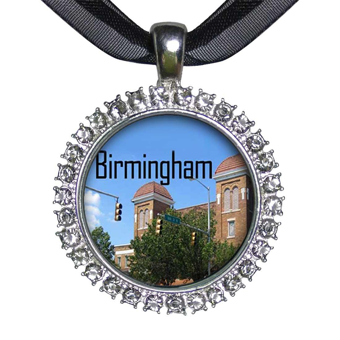 giftjewelryshop Silber Teller Birmingham Szene weiß Kristall Charm ...