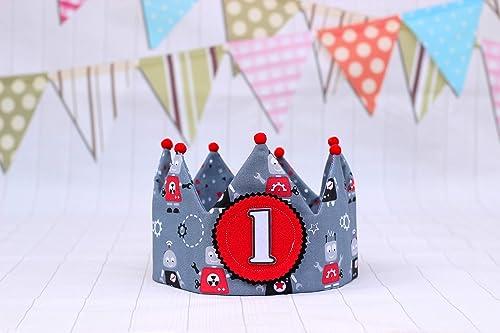 Corona de tela para cumpleaños niños, decoración primer ...