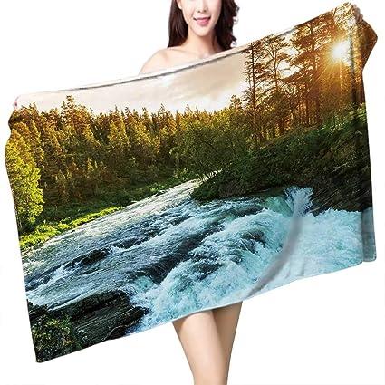 Amazon Com Uhoo2018 Baby Bath Towel Cutom Nature Lake House River