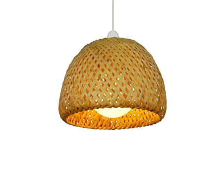 820cm natural wicker double dome bamboo lampshade pendent lamp 820cm natural wicker double dome bamboo lampshade pendent lamp shade aloadofball Choice Image