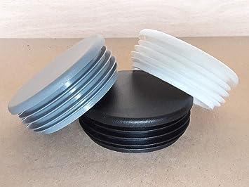 15 mm de di/ámetro color blanco redondos 20 tapones de tubo