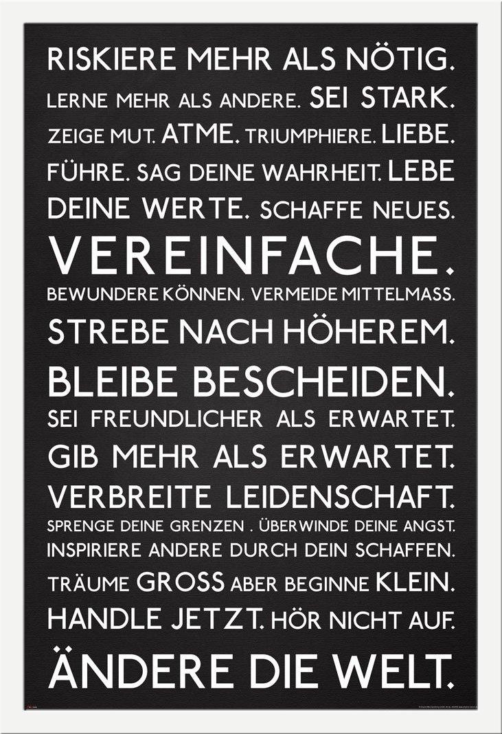 Motivational - Riskiere mehr - Motivations Poster Plakat Druck ...
