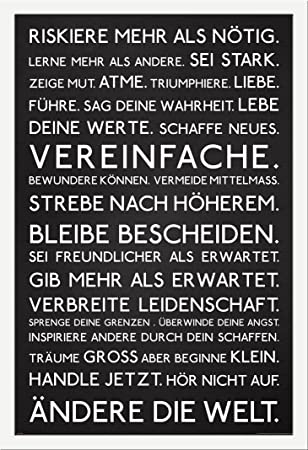 Motivational - Riskiere mehr - Motivations Poster Plakat Druck ...