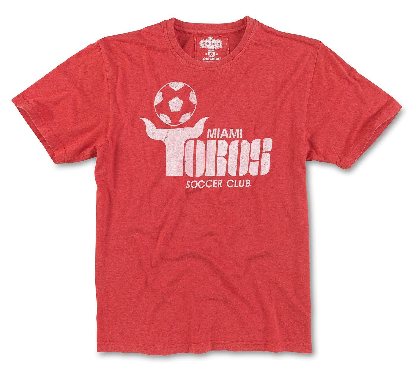 Amazon.com: Chaqueta roja Miami Toros NASL camiseta de latón ...