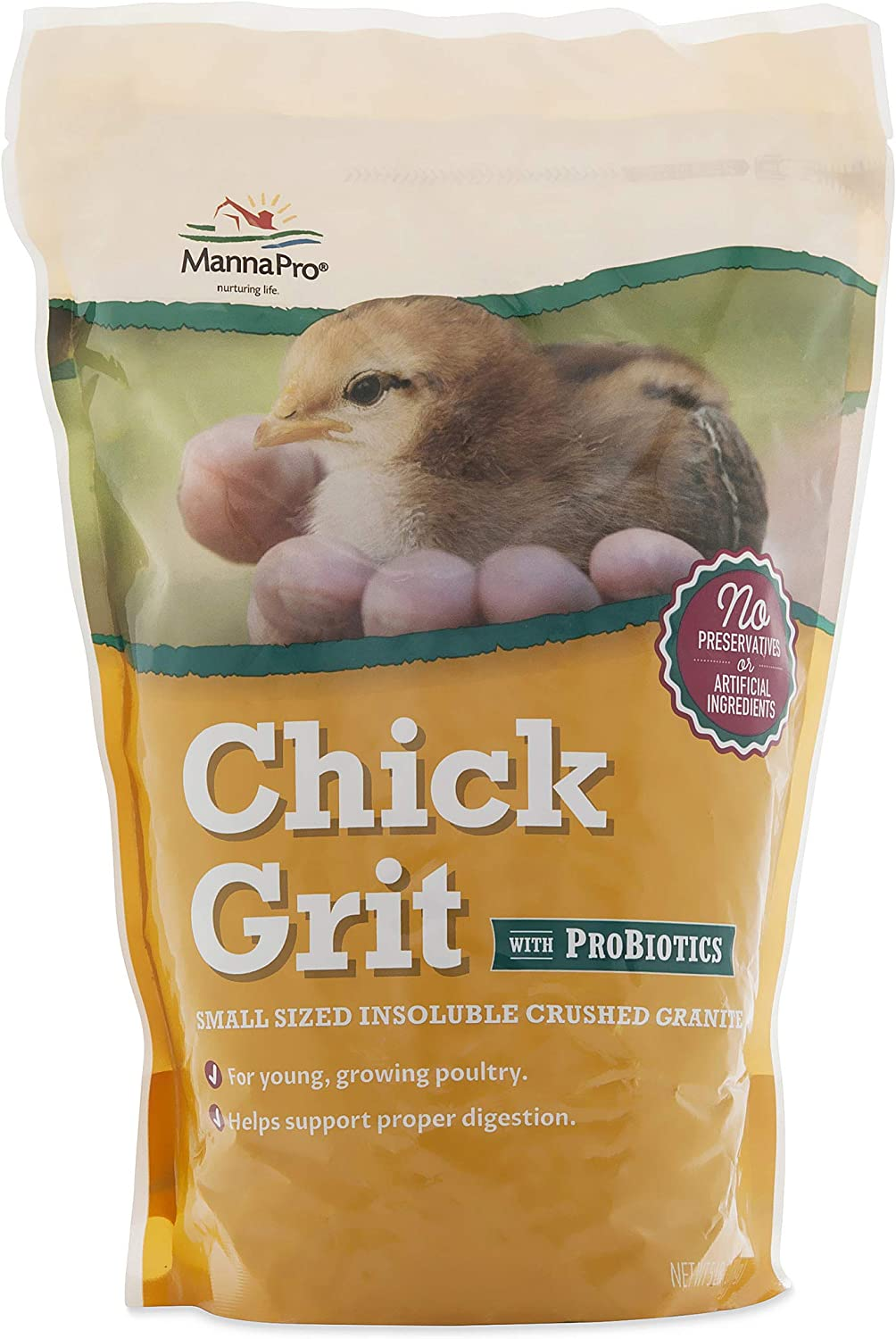 Manna Pro Chick Grit with Probiotics | Formulated with Probiotics and Supports Healthy Digestion | 5 Pounds