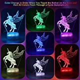 Unicorn Night Light w/ 3 Different Unicorn