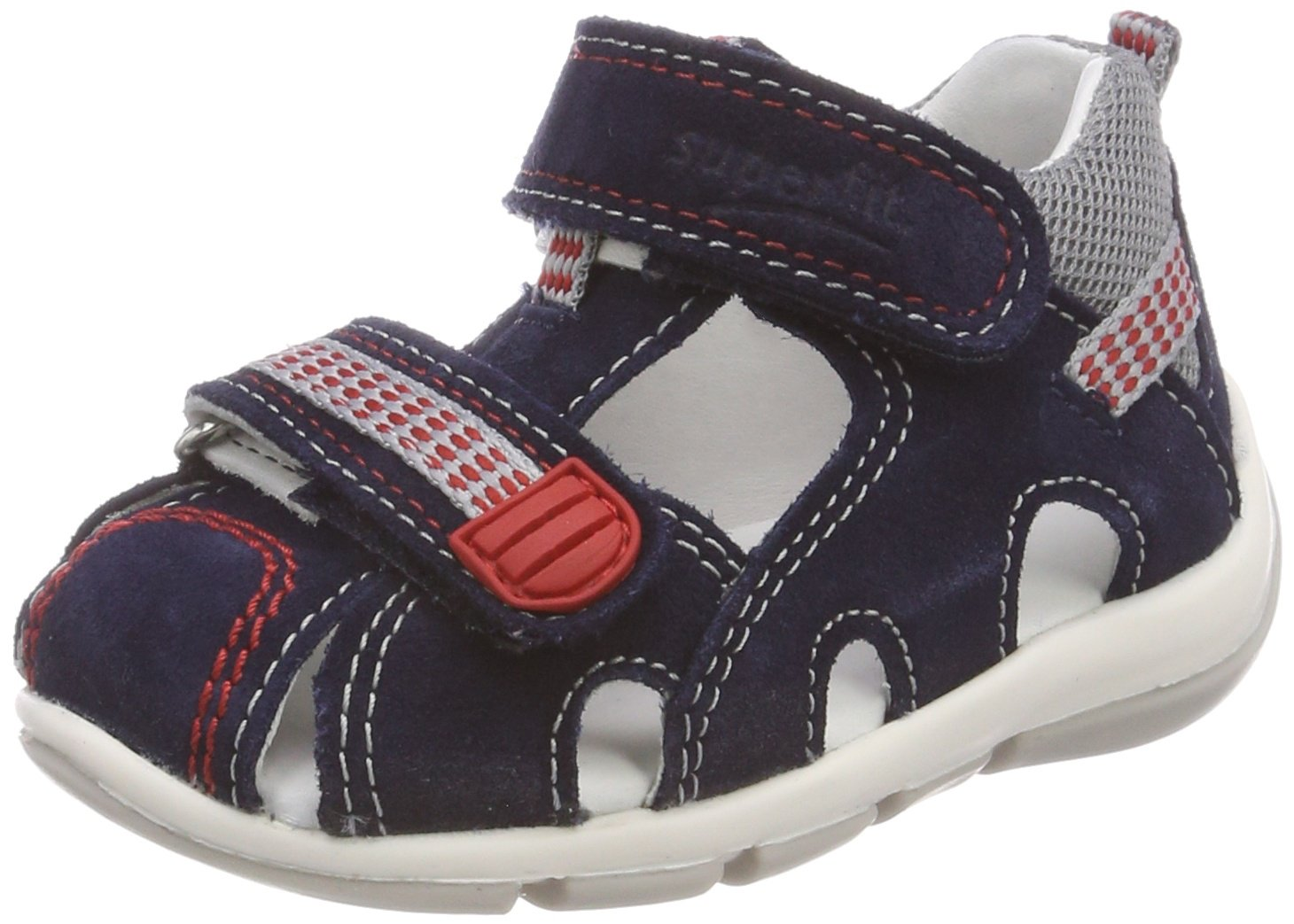 Blue Superfit Baby Boys Freddy Sandals 4.5 UK Water Combination