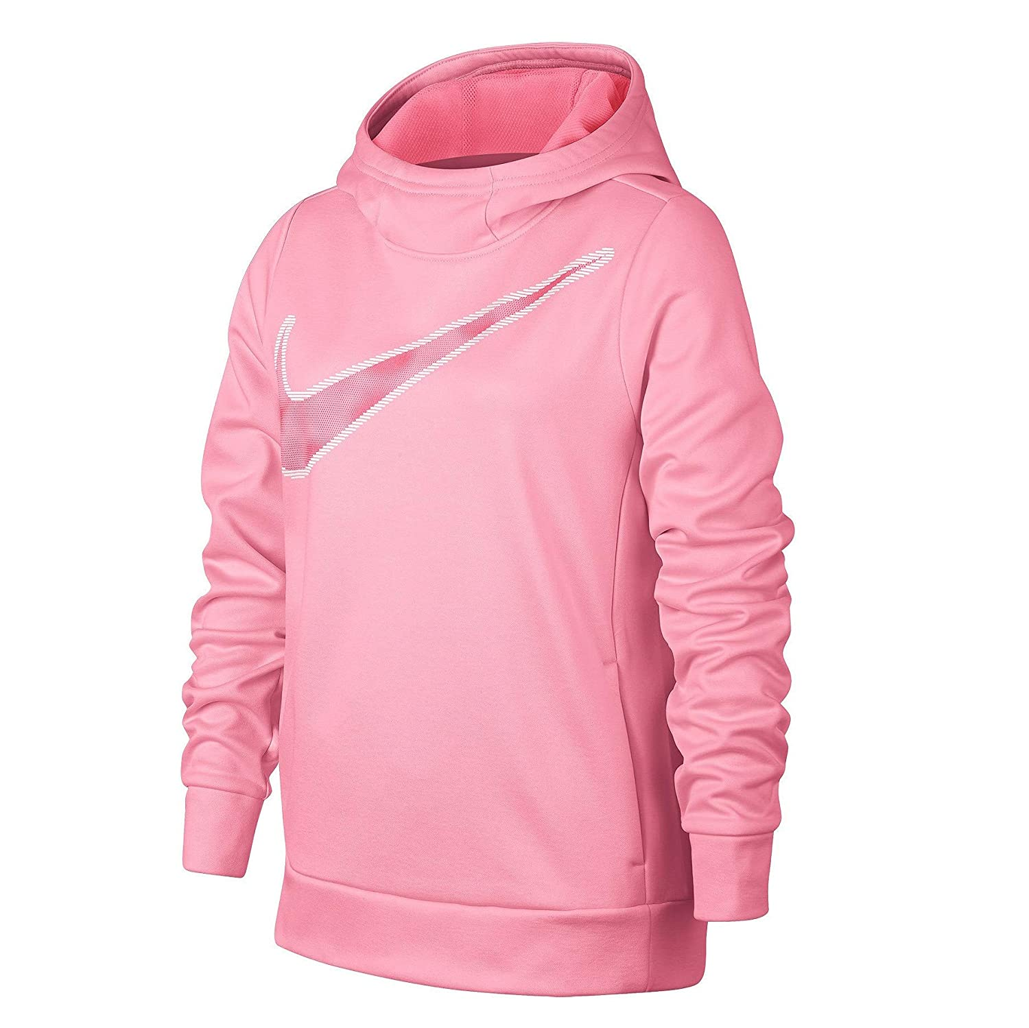 4e5e87a32 Amazon.com  Nike Girls  Swoosh Thermal Pullover Sweatshirt Hoodie  Clothing