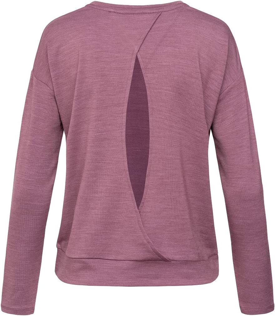 W JONSER SWEATER Mit Merinowolle super.natural Bequemes Damen Yoga-Shirt