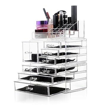 Amazoncom Felicite Home Acrylic Jewelry and Cosmetic Storage