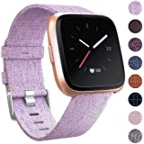 CAVN Compatible with Fitbit Versa Strap/Versa Lite/Versa 2 Strap Woven for Women Men, Fabric Band Nylon Sport Wrist Straps with Adjustable Clasp Watch Strap for Fitbit Versa Smartwatch