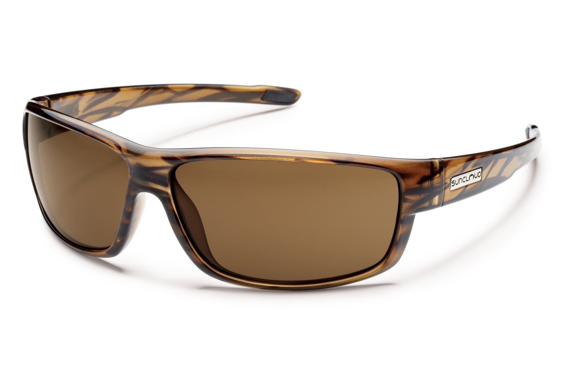 Suncloud Optics Voucher Injected Frames Polarized Sports Sunglasses - Brown Stripe/Brown by Suncloud