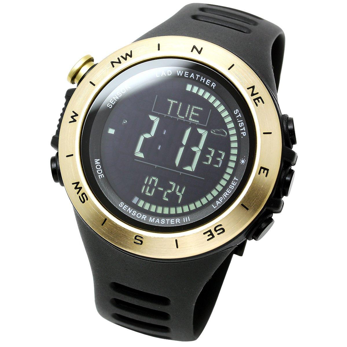[Lad Weather] resistente al agua hasta 100metros Altímetro Barómetro Alarma Tormenta calorías contador de pasos de datos Montaña reloj unisex
