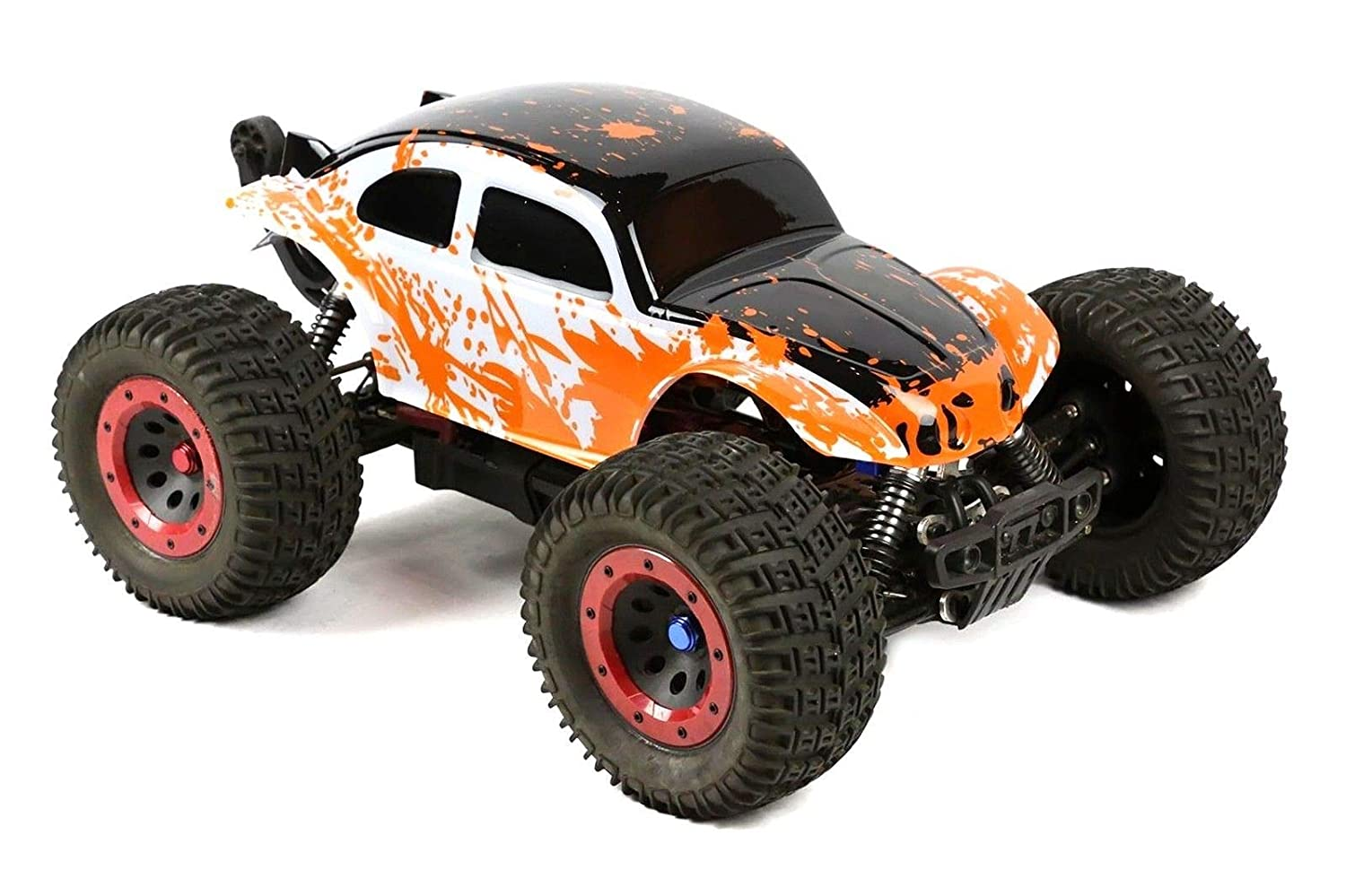 SummitLink Compatible Custom Body Muddy Orange Over White//Black Replacement for 1//10 1//8 Scale RC Car or Truck B-BWR-02 Truck not Included