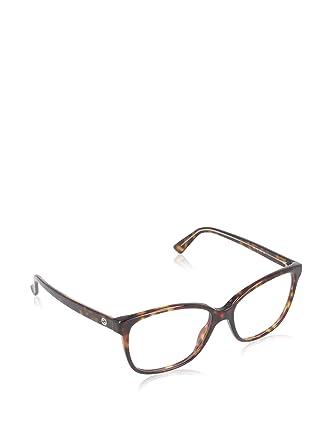 Gucci Monture de lunettes - Femme Marron Brun beige, motif tâcheté Large 60aab79d40a5