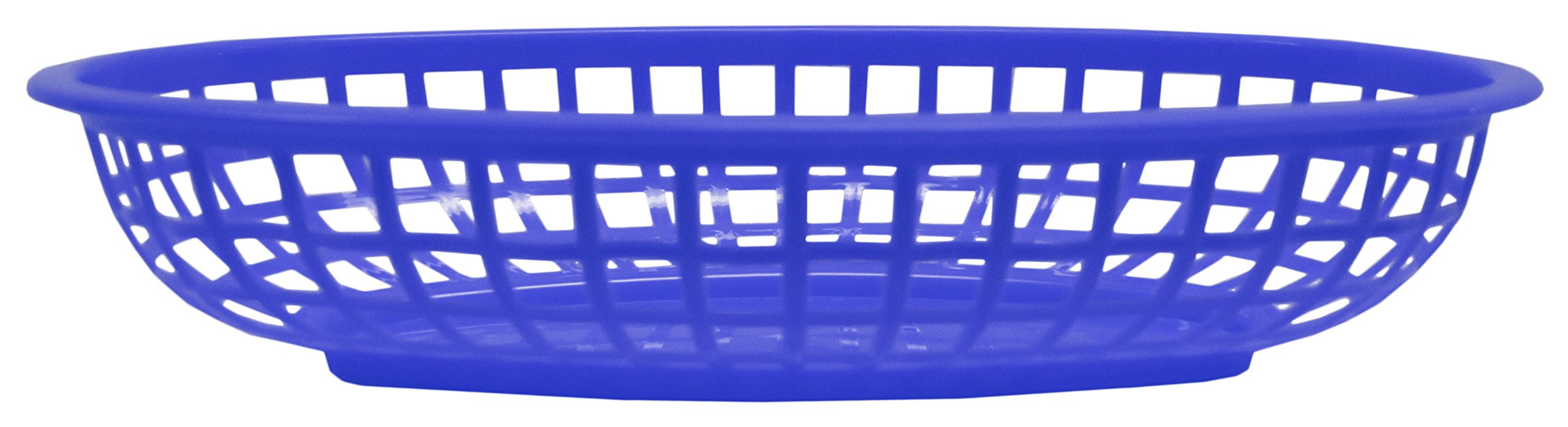 Set of 12 Blue Oval Fast Food / Deli Baskets, 9.25 by 5.67-Inch, Blue (12) by Regent (Image #4)