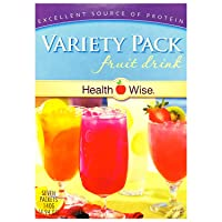 Healthwise - Variety Pack Diet Fruit Drink   Healthy Protein Drink, Appetite Suppressant   High Protein, Fat Free, Low Carb, Low Calorie, Low Sugar (7/Box)