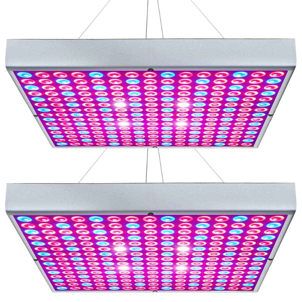 Hytekgro LED Grow Light 45W Plant Lights Red Blue White Panel Growing Lamps for Indoor Plants Seedling Vegetable and Flower (2 Pack)