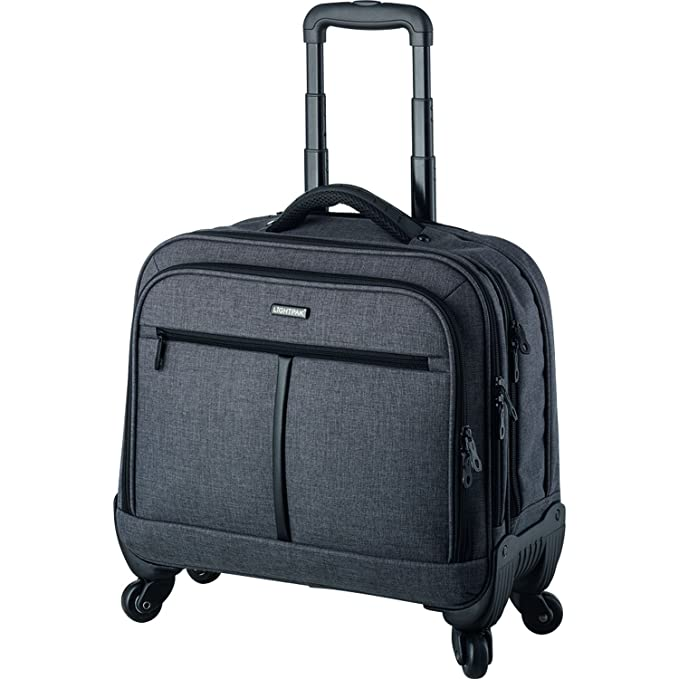 Lightpak Laptop Trolley valise roulante Phoenix, 44 cm, 15 L, Gris