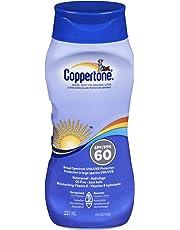 Coppertone Sunscreen Lotion SPF60, Broad Spectrum UVA/UVB Protection, Moisturizing Vitamin E, 237ml (Packaging May Vary)