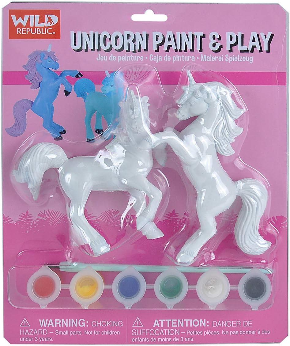 Wild Republic Unicorn Paint /& Play Paint Set Art Kit Stem Toys Unicorn Party Supplies