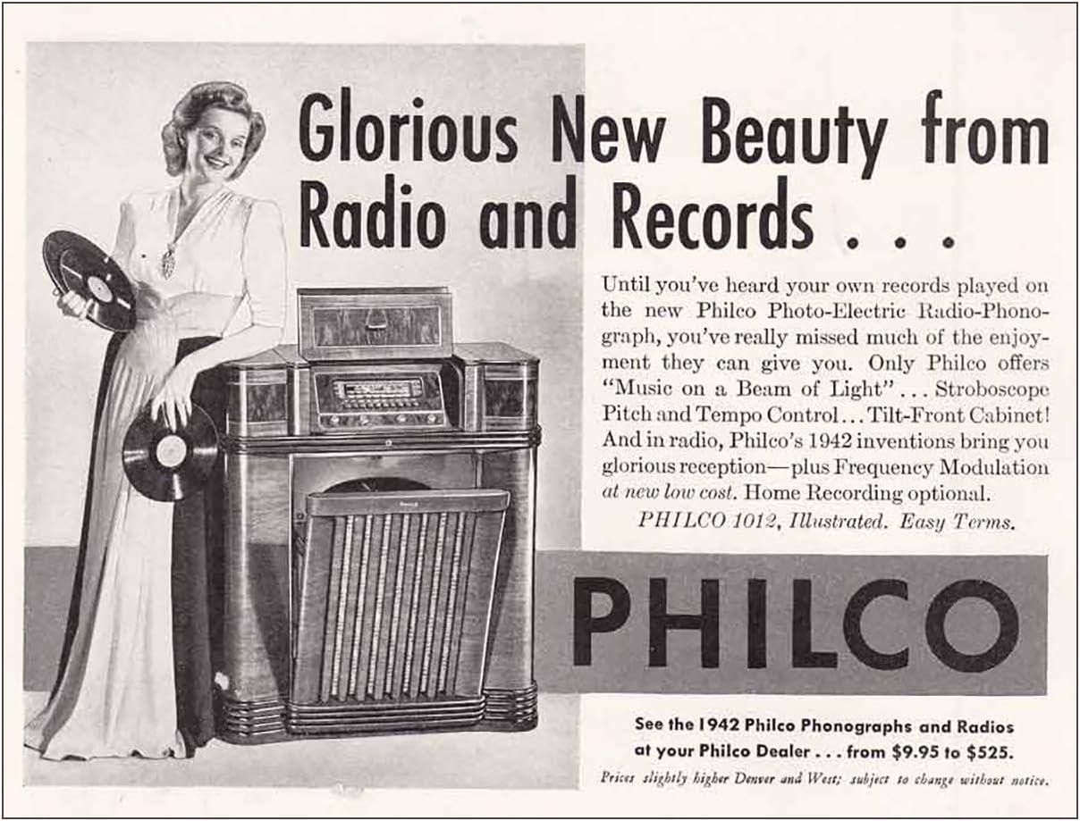 "20 x 14/"" Philco Radio /& Phonograph Advertising Poster 4-fold Vintage 1946?"