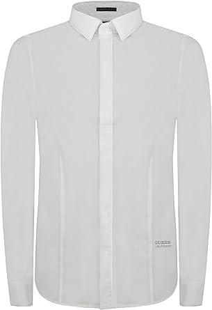 Guess Camisa Hombre LS Classic Stretch Poplin Blanco Óptico S ...