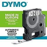 DYMO D1 - Etiquetas Auténticas, Impresión Negra sobre Fondo ...