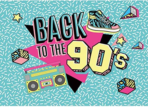 Allenjoy Back To The 90s Backdrop For Pictures Birthday Dance Music Disco Let S Hip Hop Party Cake Table Banner I Love The 90s Theme Photoshoot Background 7x5ft Photo Booth Props Amazon Ca Camera