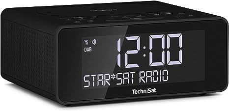 Technisat Digitradio 52 Stereo Dab Radiowecker Uhrenradio Wecker Dab Ukw Snooze Funktion Sleeptimer Dimmbares Display Wireless Charging Funktion Stereo Lautsprecher 2 X 1 W Schwarz Heimkino Tv Video