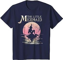 Disney The Little Mermaid Ariel Rock Moon Silhouette T-Shirt
