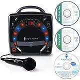 Singing Machine SML283BK Impianto per Karaoke Portatile con Lettore CD-G e 3 CDG di Canzoni Pronti all'uso, Nero