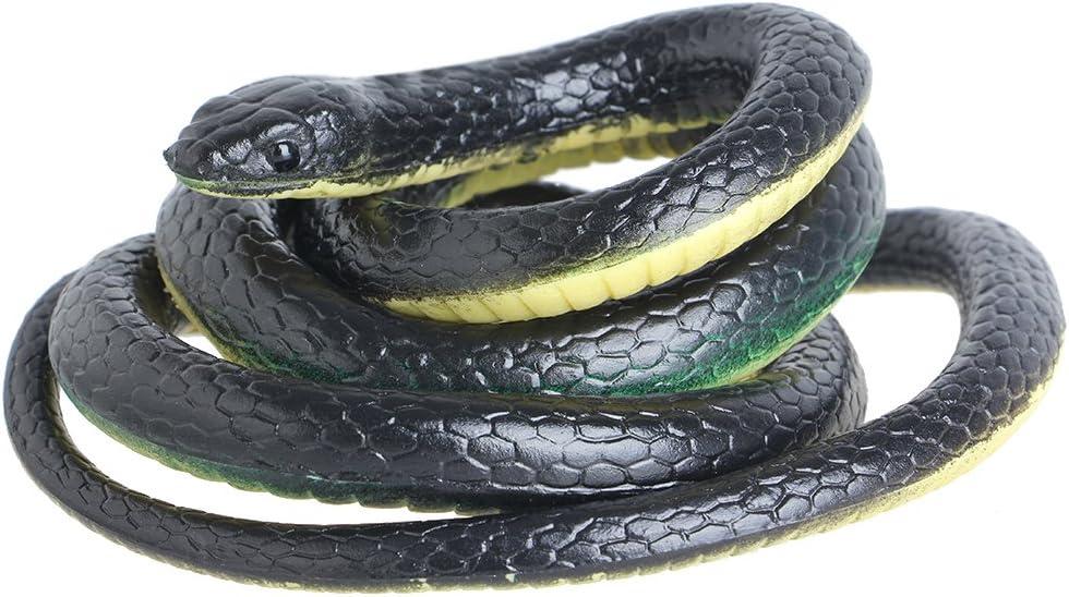 bluederst Fake Snake Halloween Garden Props Joke Prank Toy,130cm Realistic Plastic Tricky Toy
