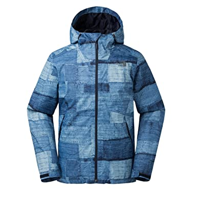 The North Face Mens Millerton Jacket Urban Navy Tryboro Print (MEDIUM)