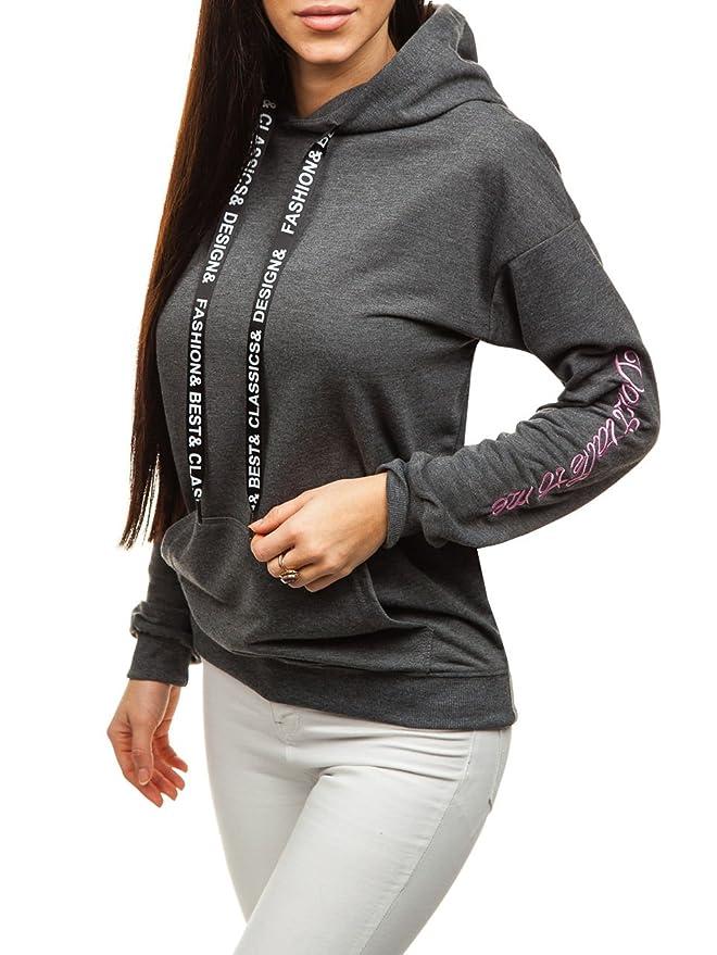 Kapuzenpullover Sweatshirt Hoodie Sweatjacke Pullover Damen Mix BOLF A1A Motiv