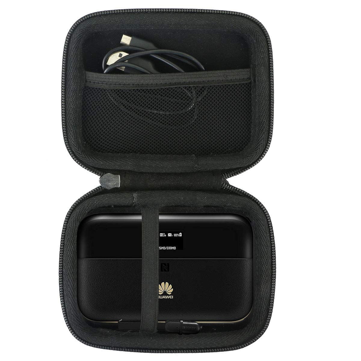 Khanka hard case Carrying travel bag for Huawei E5885 CAT6/ 4G+ Mobile WiFi Hotspot and HUGE Battery Power Bank.(Case only)