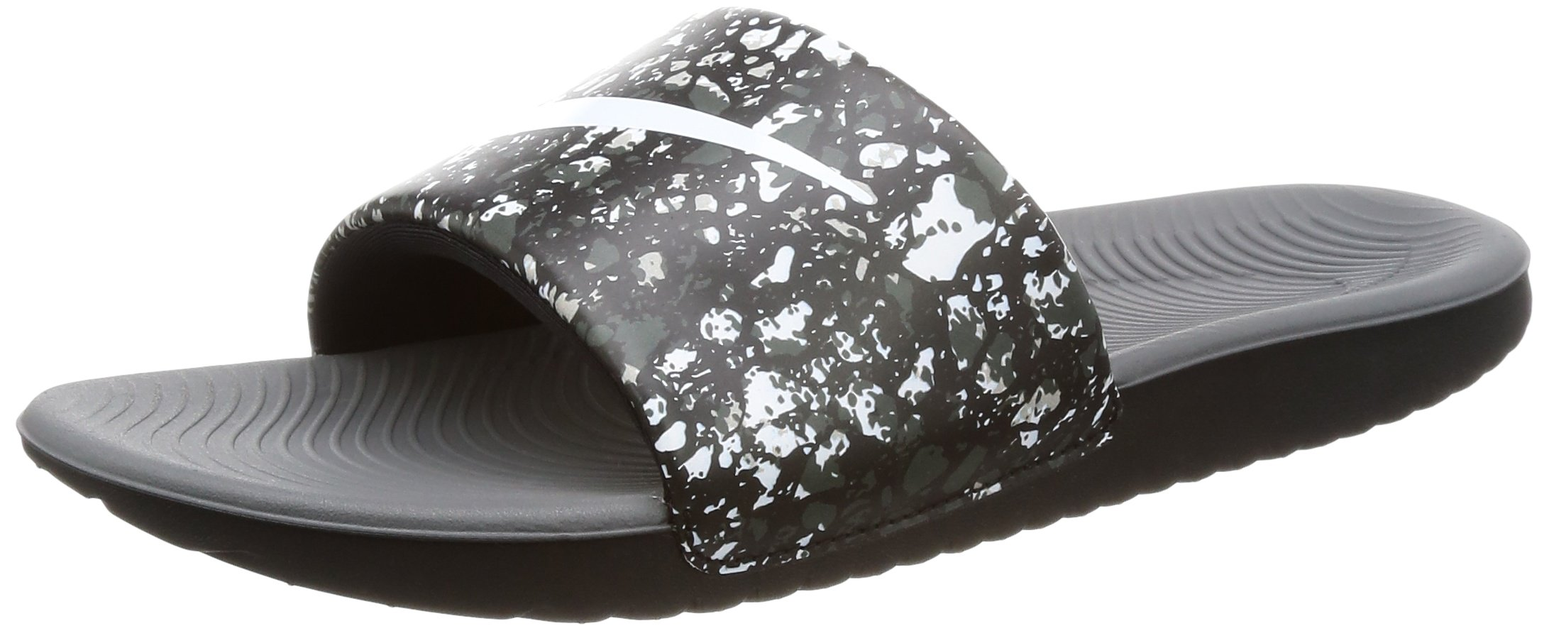 Nike Boy's Kawa Slide Printed Sandal Black/White/Dark Grey Size 3 M US