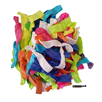 Amazon.com   No Crease Hair Ties - 20 Pack U PICK YOUR COLORS (Prints and  Solids) By Kenz Laurenz   Mustache No Crease Hair Ties   Beauty 4a785a850c7