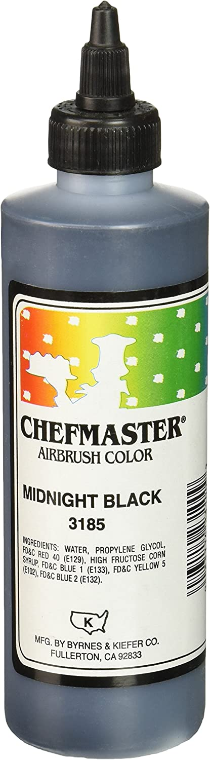 Chefmaster Airbrush Spray Food Color, 9-Ounce, Midnight Black