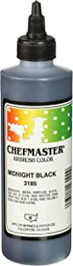Chefmaster Airbrush Spray Food Color, 9-Ounce, Midnight Black