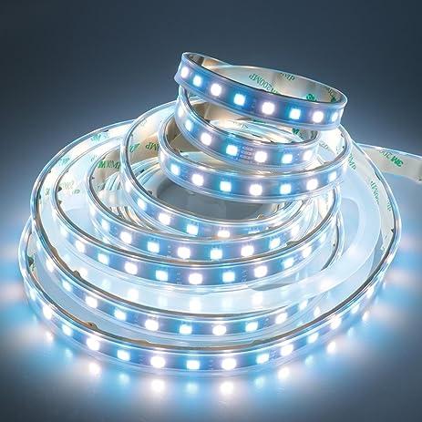 LEDENET Waterproof IP67 Flexible RGBW LED Strip Lighting DC 24V 5M Black  PCB Silicone Sleeving Outdoor